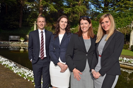 Coles Miller Solicitors L-R Matthew Lewis, Amy Cousineau, Kerry Houston-Kypta, Lydia Barnett
