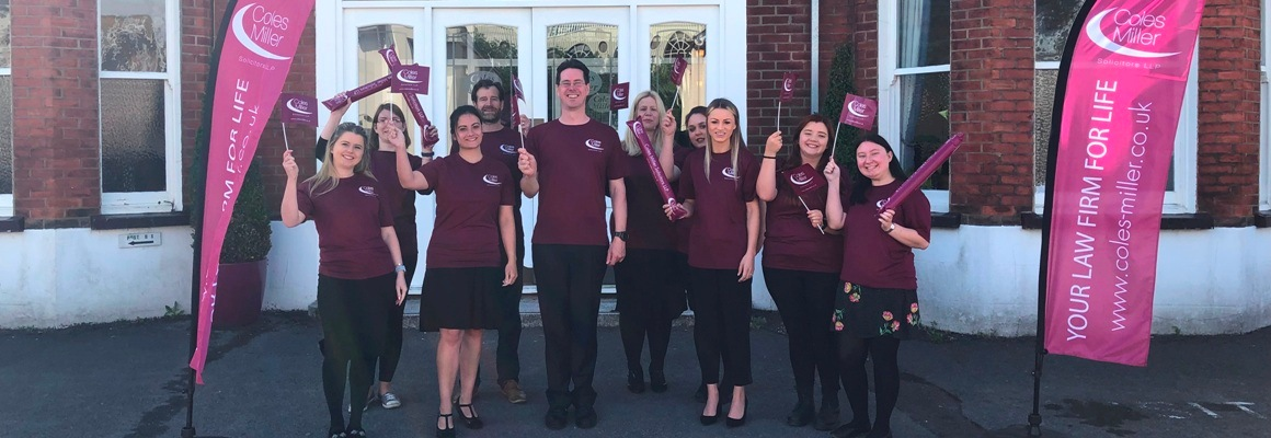 Coles Miller Solicitors Race for Life team