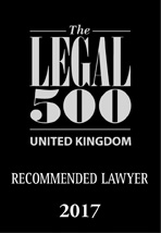 Legal 500 Recommended Lawyer 2017