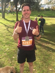 Neil Andrews runs the Bournemouth Marathon